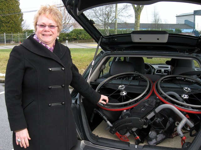 Room in trunk to transport a wheelchair