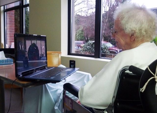 Setting up skype for seniors in hospital