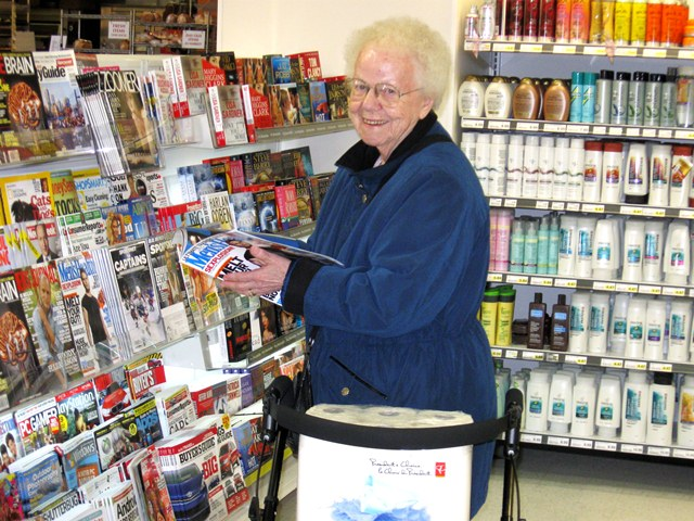 Attendant for seniors on shopping trips